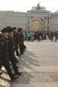 Репетиция парада на Дворцовой площади