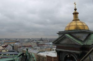 Вид с колоннады Исаакиевского собора