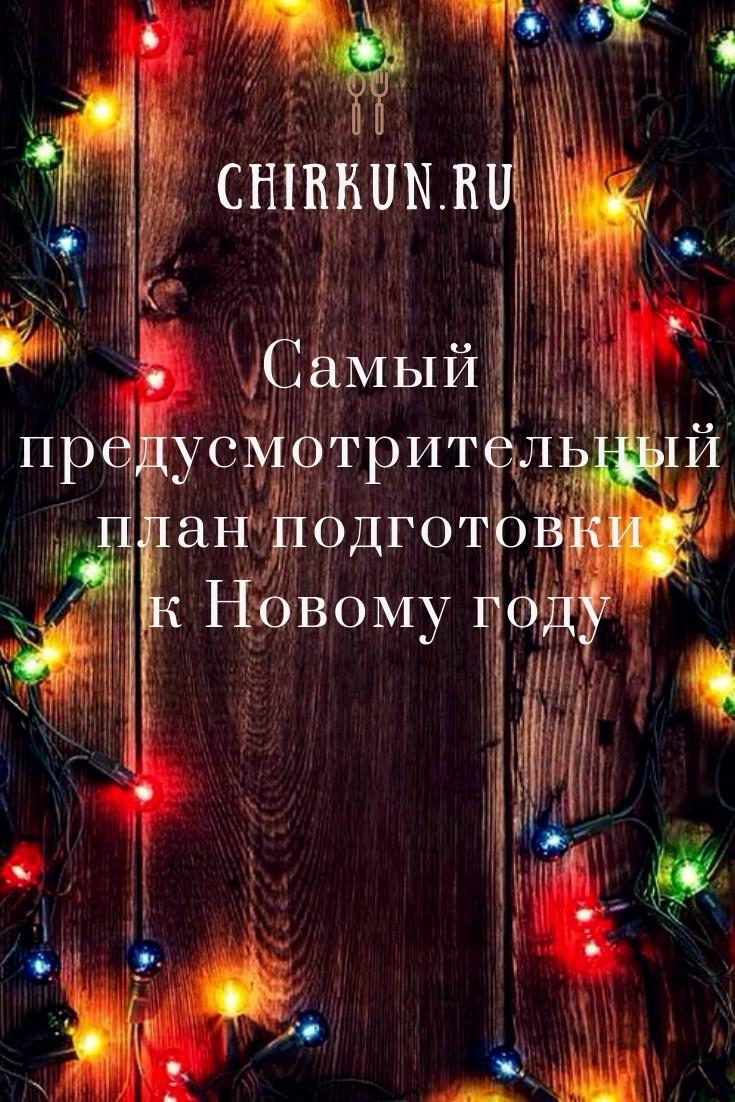 Самый предусмотрительный план подготовки к Новому году/Chirkun.ru