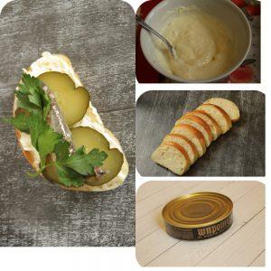 как приготовить бутерброд со шпротами